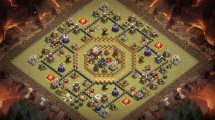 Town Hall 12 War Base Map 23 Clash Of Clans - Year of Clean