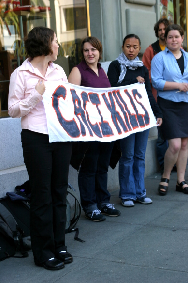 A protest against CACI.