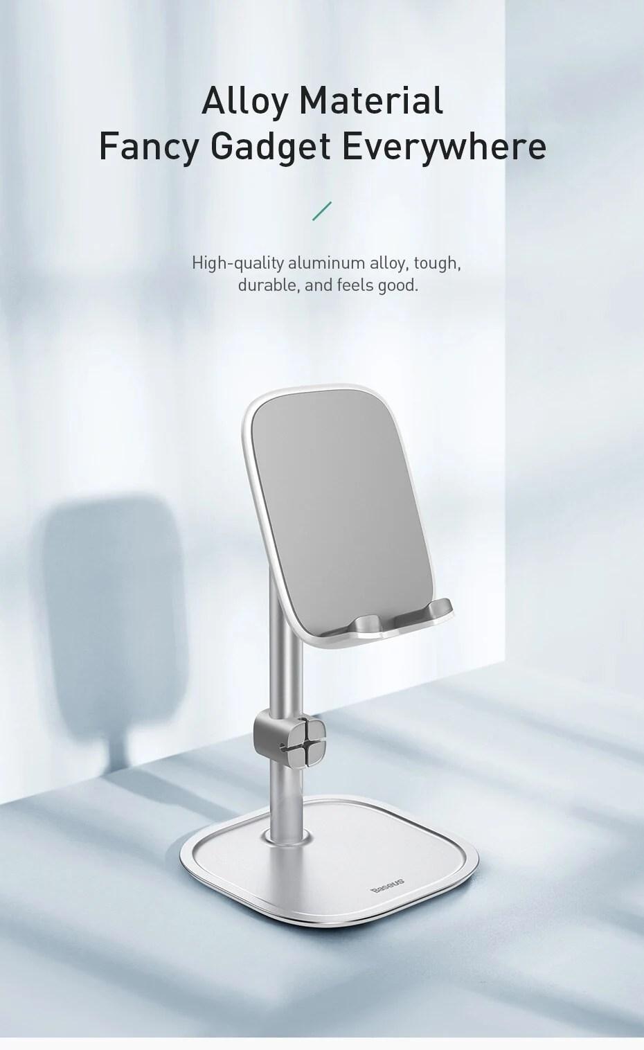 Baseus Telescopic Desktop Phone Holder For Tablet Pad Desktop Holder Stand For Cell Phone Table Holder Mobile Phone Stand Mount