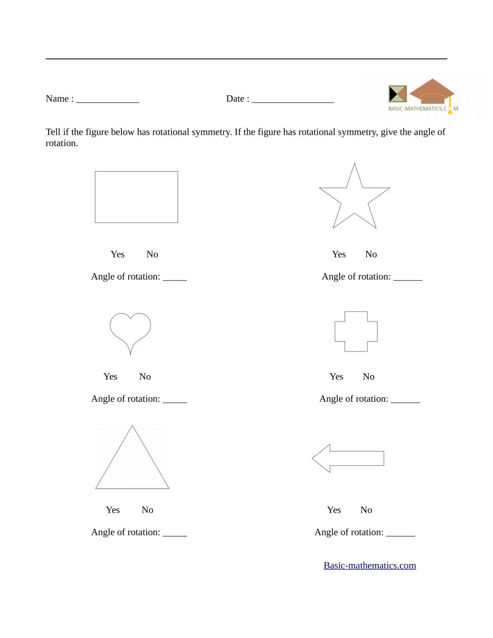 medium resolution of Symmetry Worksheets