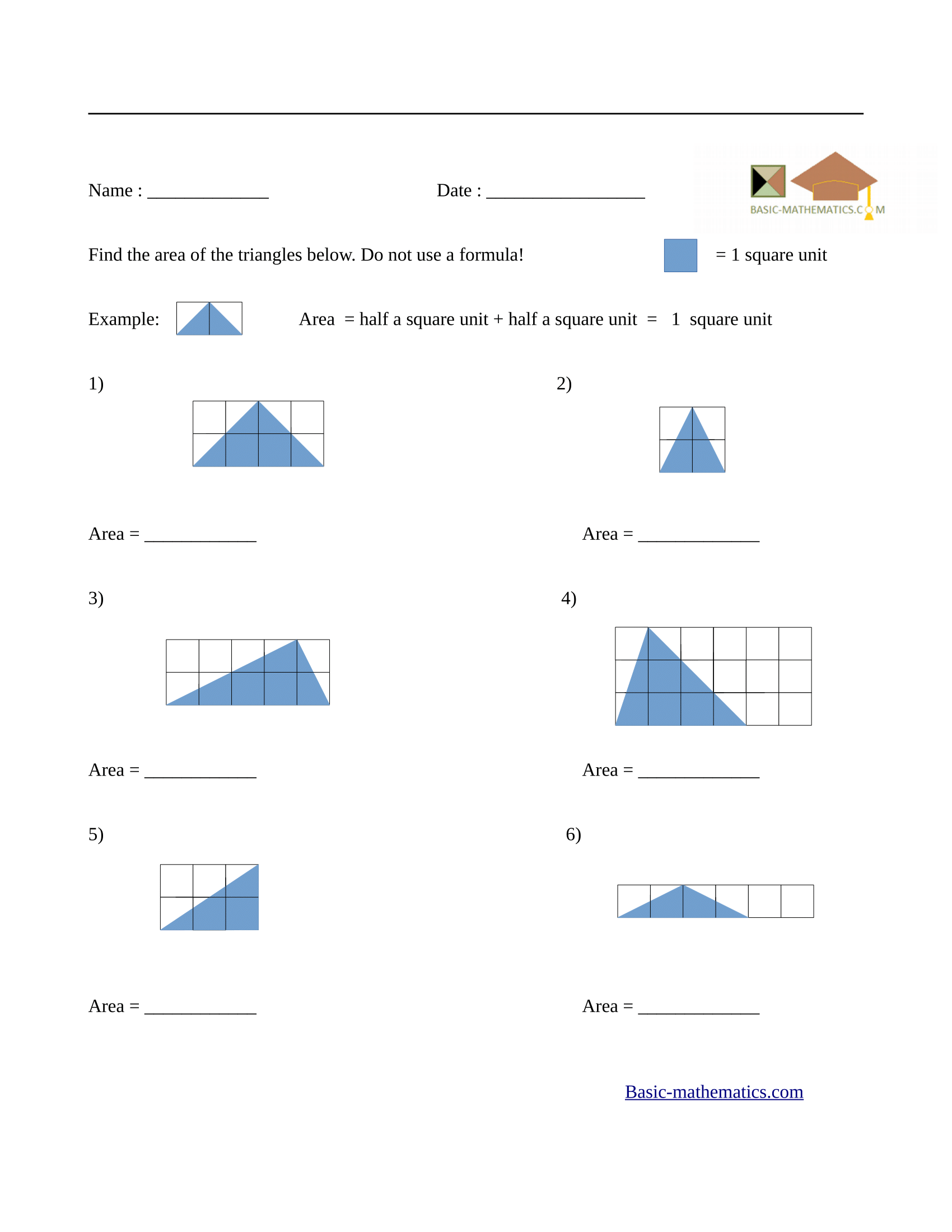 Worksheets Area Of Triangles Worksheet Cheatslist Free Worksheets For Kids Amp Printable