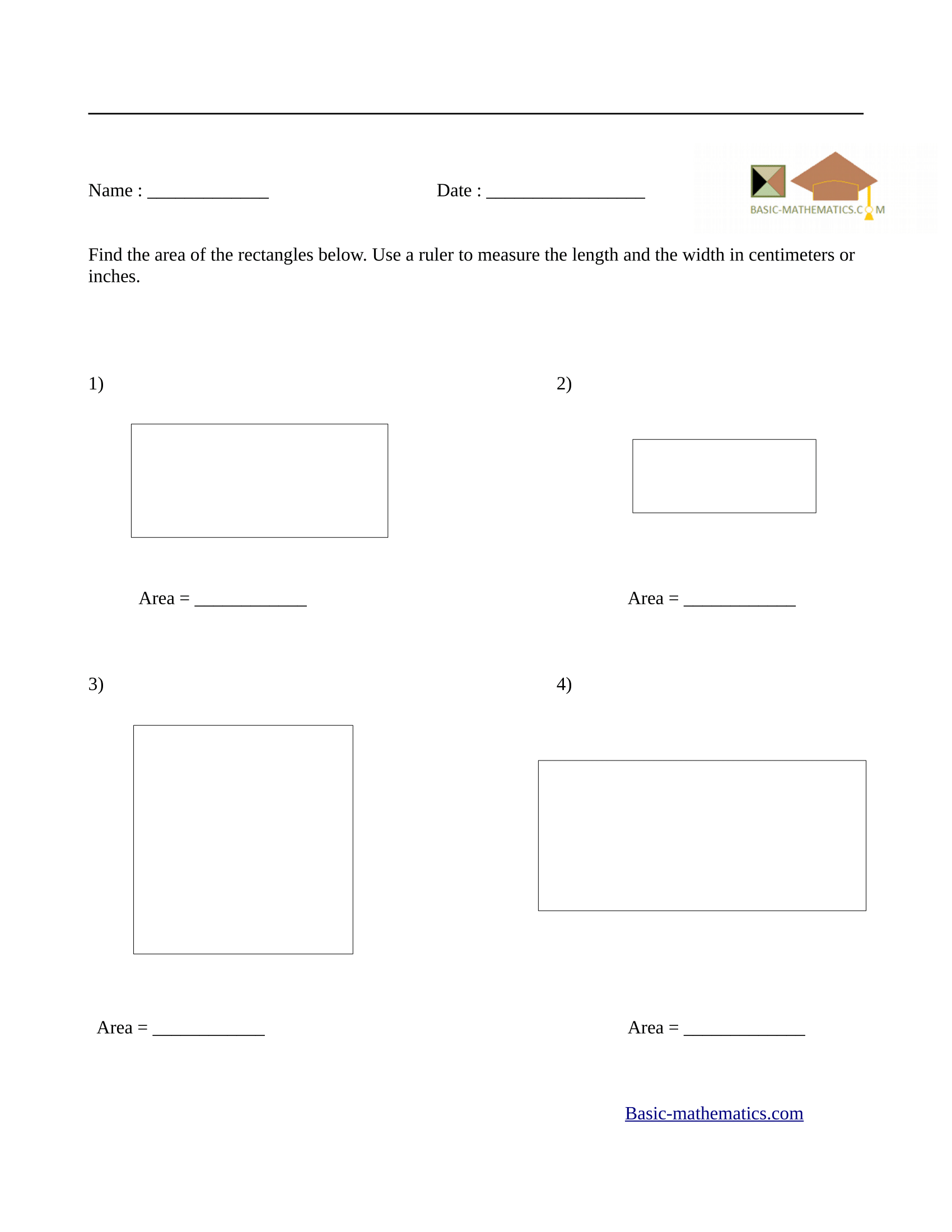 Worksheets Area Of Rectangle Worksheet Cheatslist Free Worksheets For Kids Amp Printable