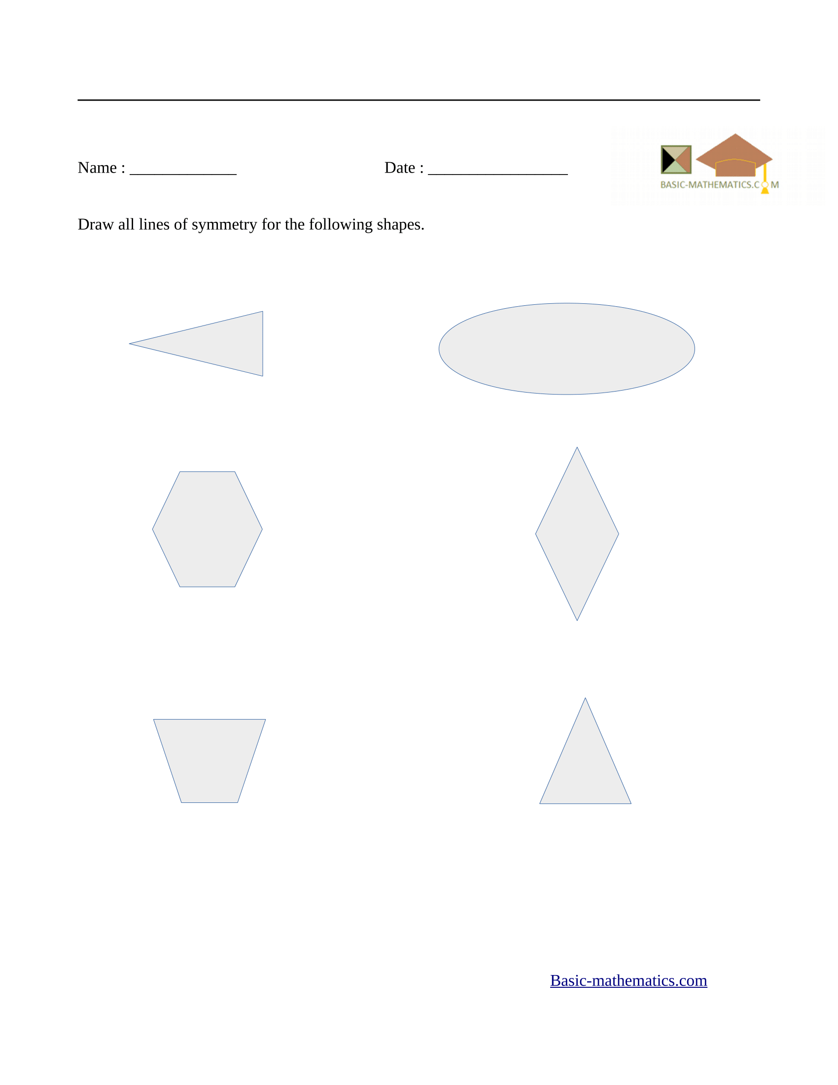 hight resolution of Symmetry Worksheets