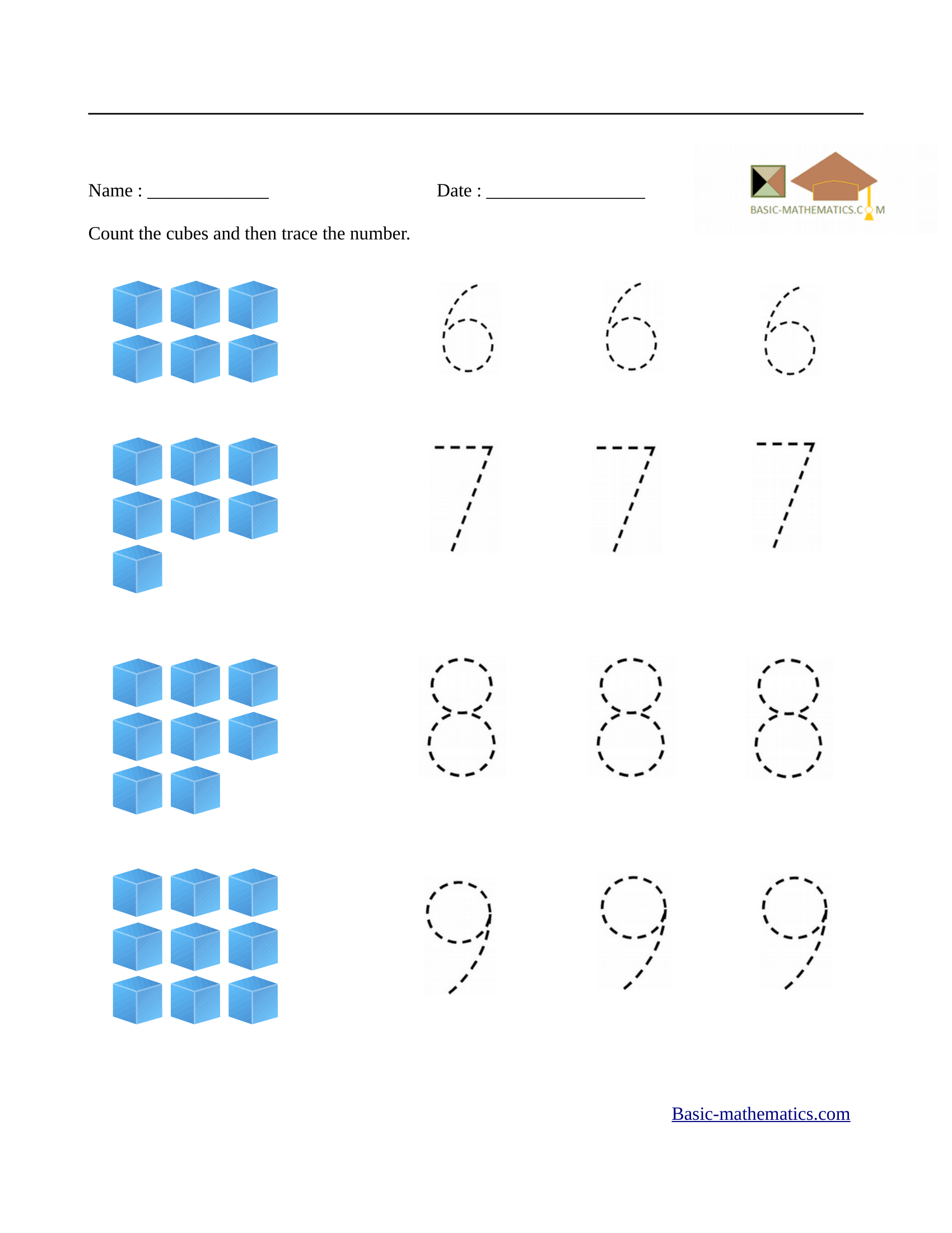 Math Worksheets For Preschool