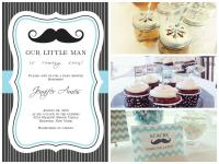 Mustache Baby Shower Theme: Real Baby Shower