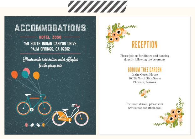 Acmodation Card For Your Guests Who Will Be Traveling From Out Of Town It Is A Mon Courtesy To Include Hotel Which Convenient And Affordable