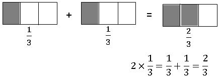 multiplying a fraction with whole number