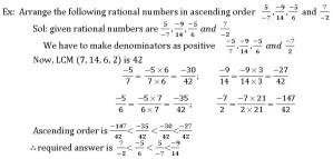 ICSE 8 TH MATH COMPARING RATIONAL NUMBERS