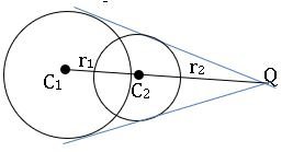ts inter maths 2B the circles intersects at distinct points