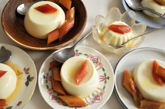 Panna Cotta Guide with recipe for panna cotta with roasted rhubarb - Basics of Happy - www.basicsofhappy.com