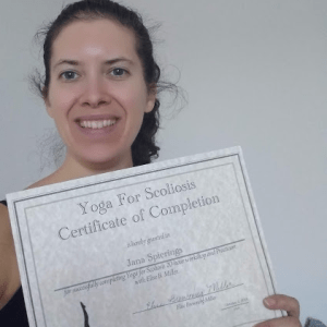 Completion certificatie Yoga for Scoliosis