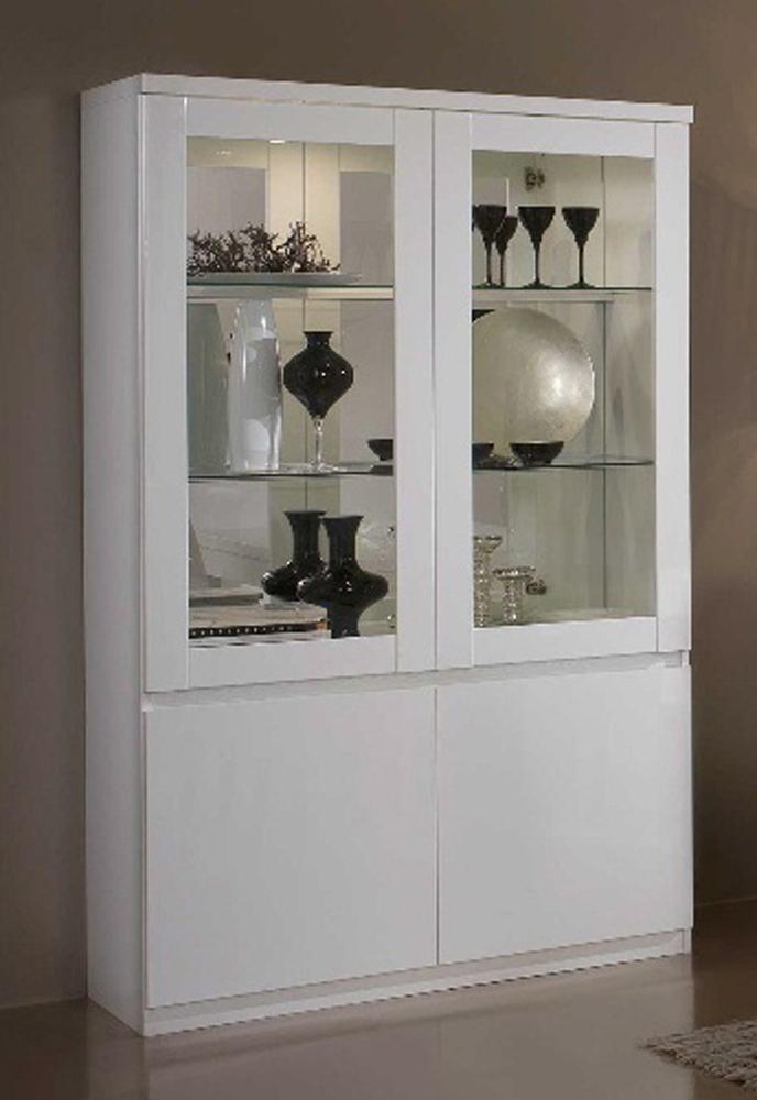 vitrine 2 portes roma laque blanc