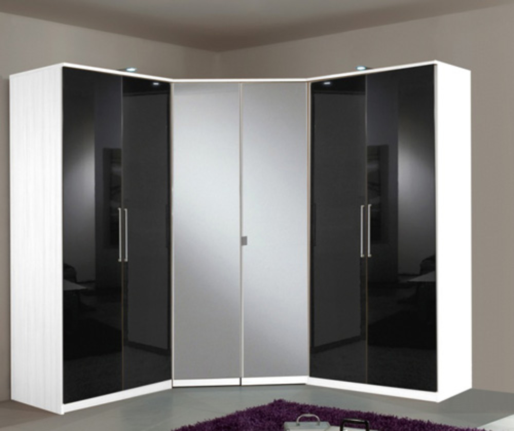 Armoire dangle 2 portes Gamma Blancnoir