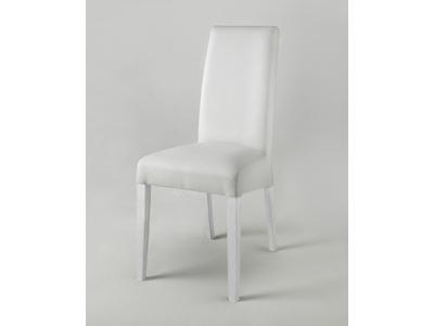 chaise pisa laquee bicolore blanc gris