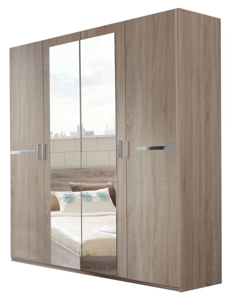 armoire 4 portes anna chambre a coucher imitation chene