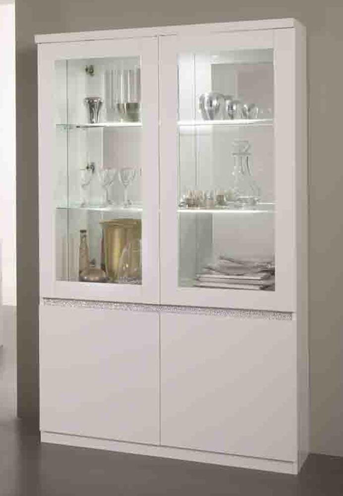 vitrine blanc laque avec led