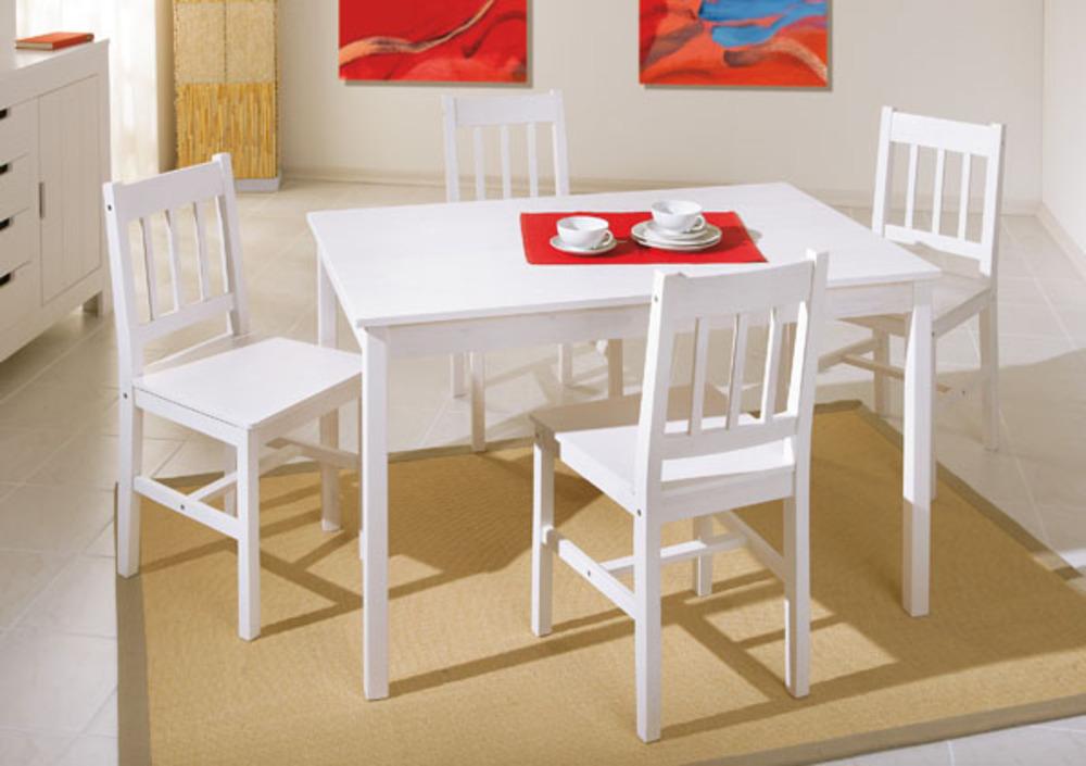 ensemble table 4 chaises paloma