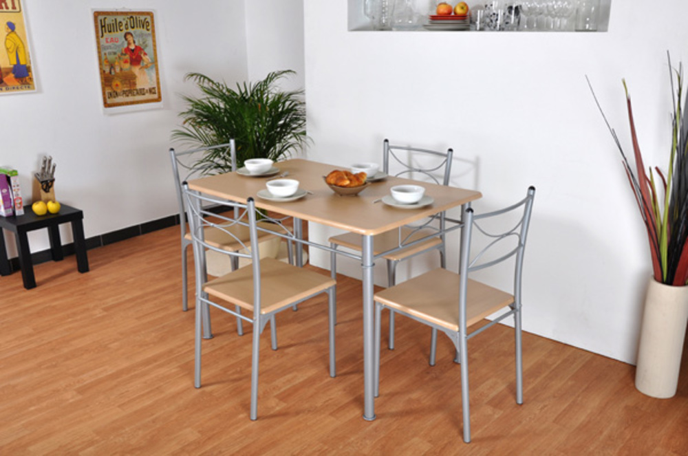 Table  4 chaises Tuti Hetre