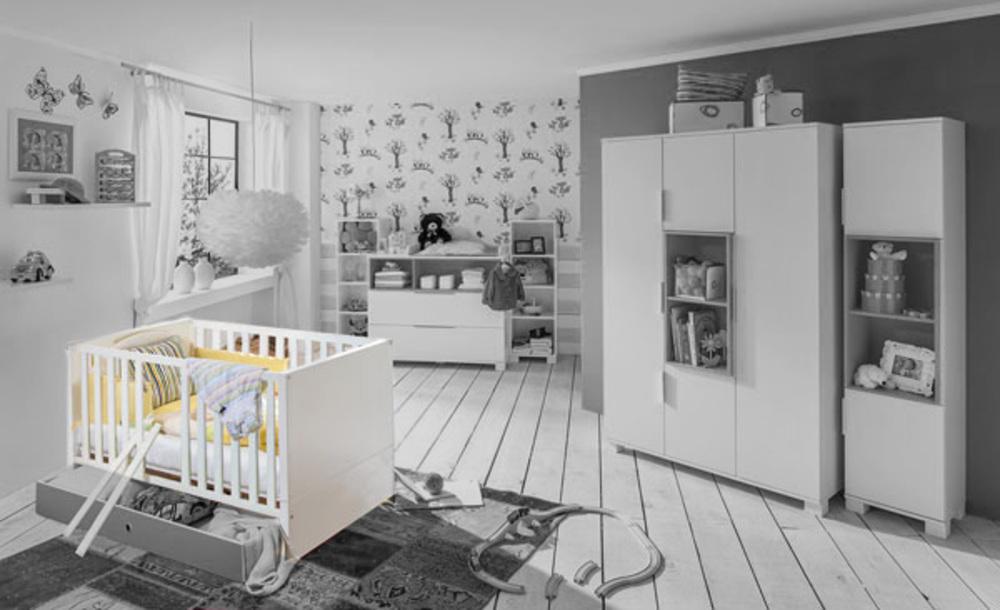 Lit bebe Joris chambre bebe blancgris sable