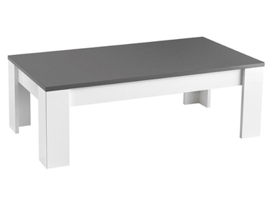 Table Basse Modena Laquee Blanc Grise