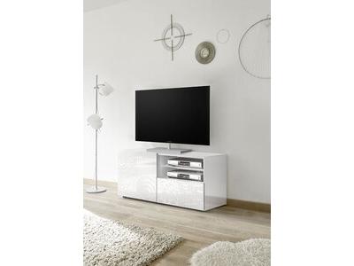 meuble tv gm miranda laque blanc serigraphie