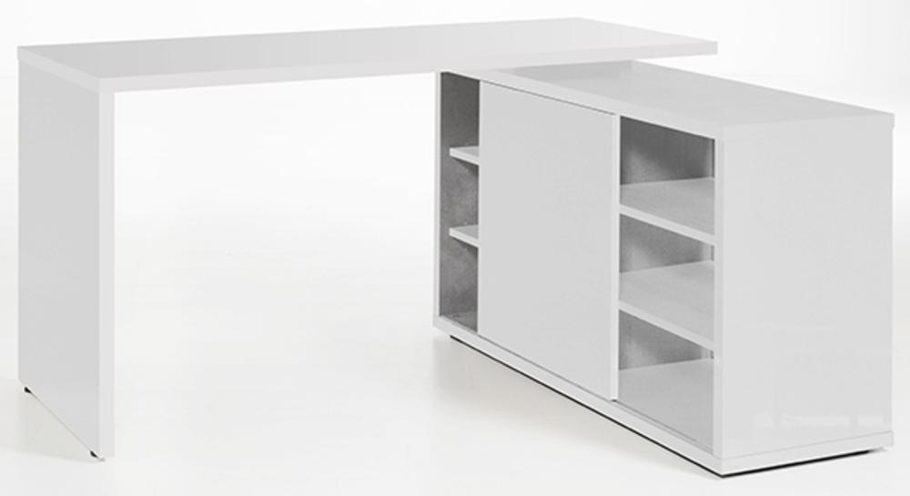 bureau d angle reversible core laque blanc