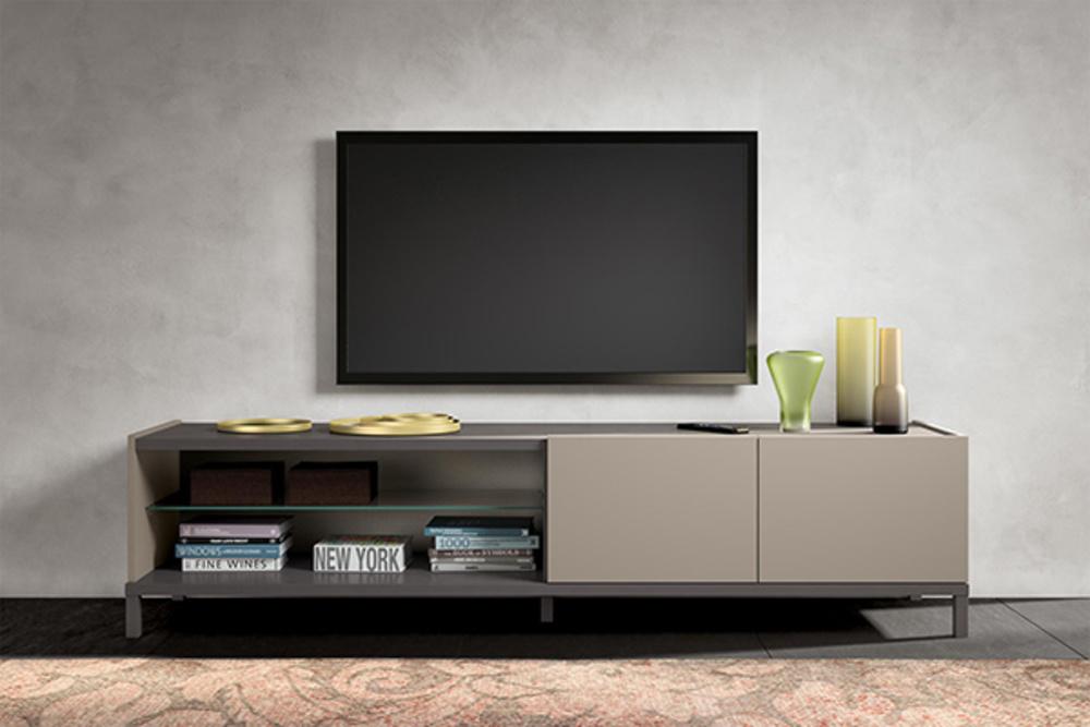 meuble tv 2 portes 2 niches kali