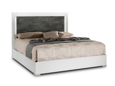 lit coffre denise blanc gris fonce