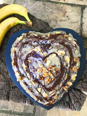 National Healthy Eating Week Day 3: Vegan Peanut Butter Banana Cake