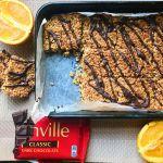 vegan chocolate orange flapjack recipe