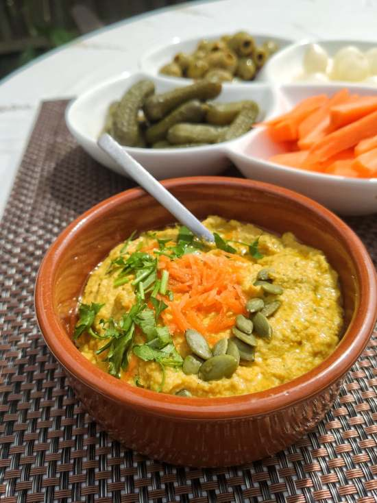 roasted carrot hummus recipe