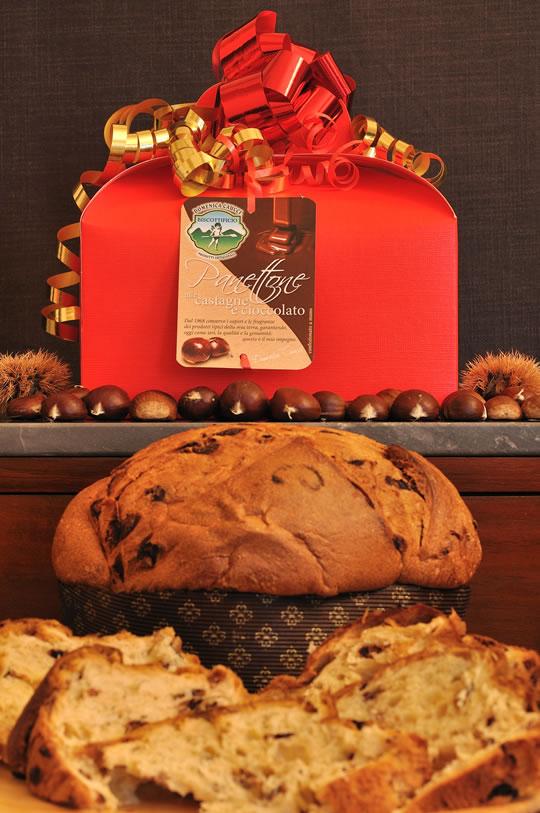 Panettone alle Castagne e Cioccolato  Biscottificio Caucci  Trecchina PZ Basilicata Italy