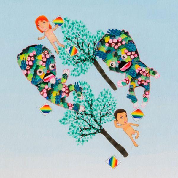 BAS Illustration original art: Blue Sky Collection Print 2