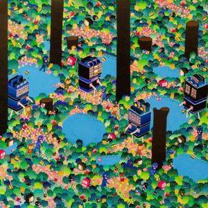 "BAS Illustration original art: Forest Big Guy 24"" x 36""Collection Print 2"