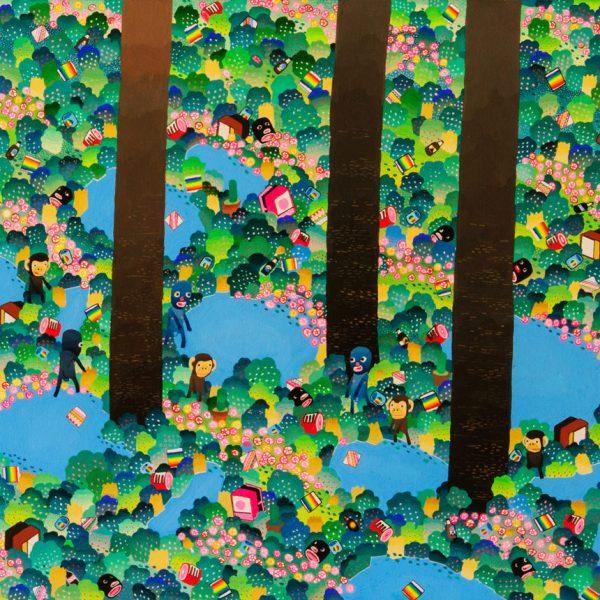 BAS Illustration original art: Forest Collection 18x24 Print 1