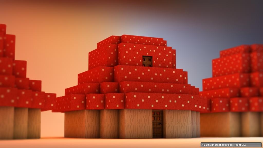 Top Class 3d Wallpapers Basilmarket Maplestory Minecraft Mushroom House