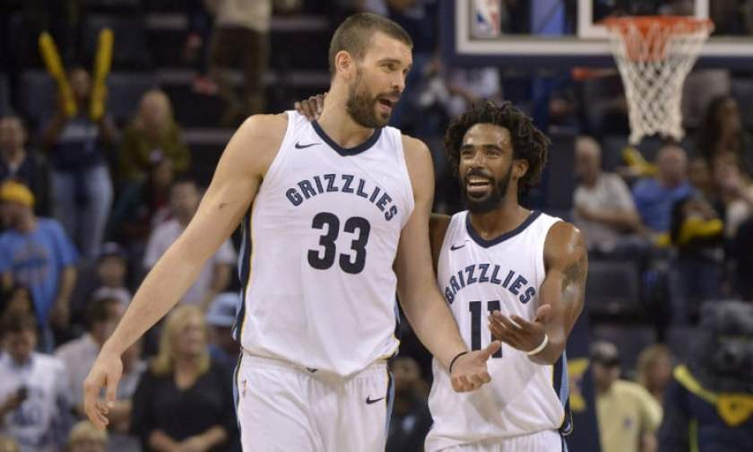 Image result for marc gasol and mike conley