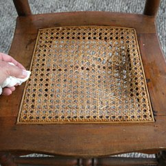 How To Cane A Chair Best Nursery Rocking Webbing Seat Instructions Wet The Old Spline