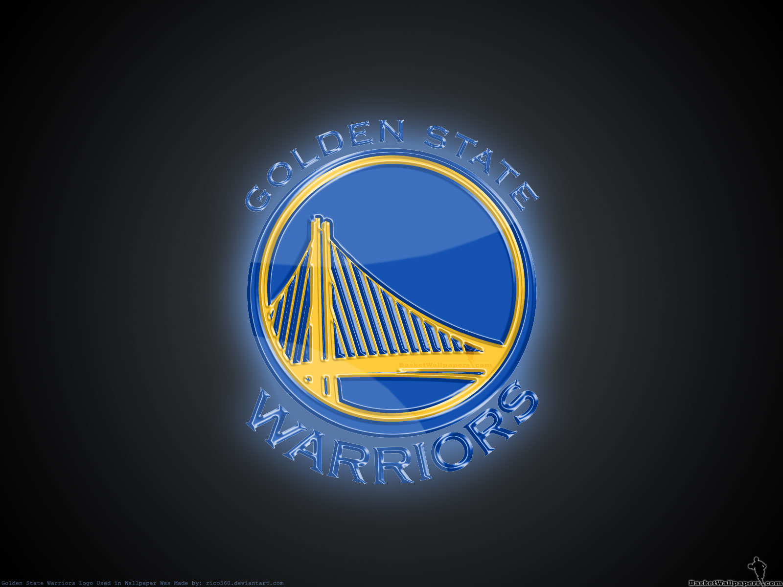 Golden State Warriors 3D Logo Wallpaper