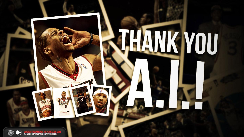 Sixers Iphone Wallpaper Thank You Allen Iverson 2014 Wallpaper Basketball