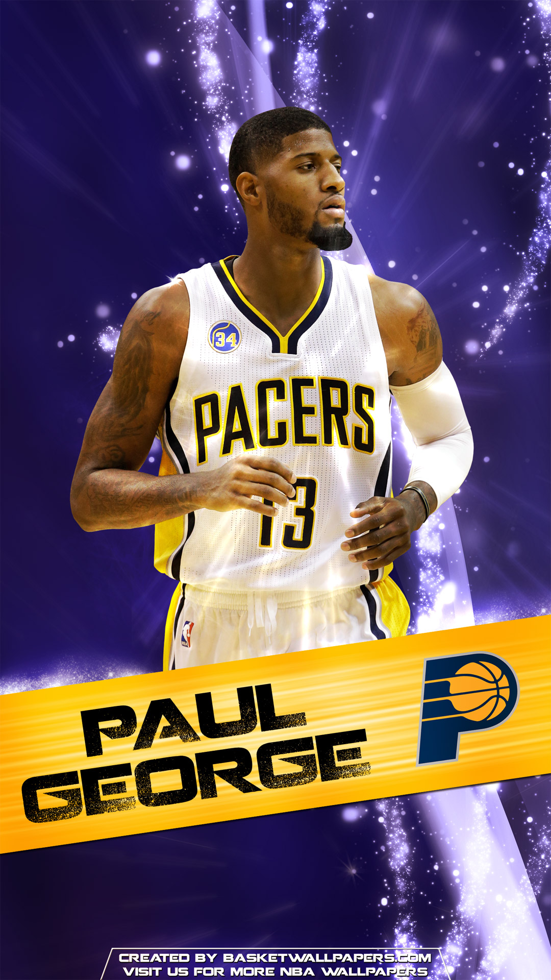 Golden State Wallpaper Iphone Paul George Indiana Pacers 2016 Mobile Wallpaper