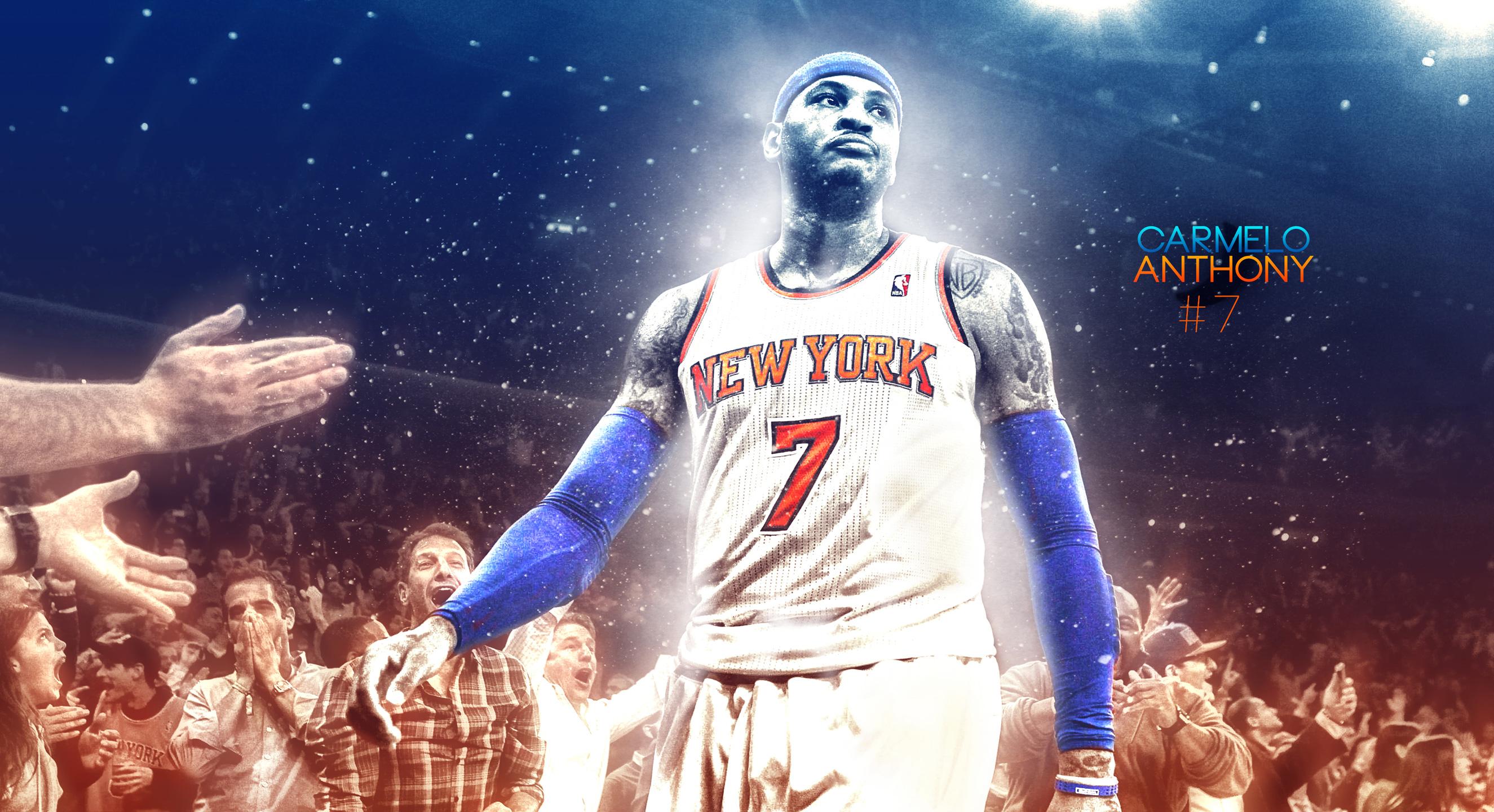 Ny Knicks Wallpaper Hd Carmelo Anthony Knicks 2015 2560 215 1440 Wallpaper