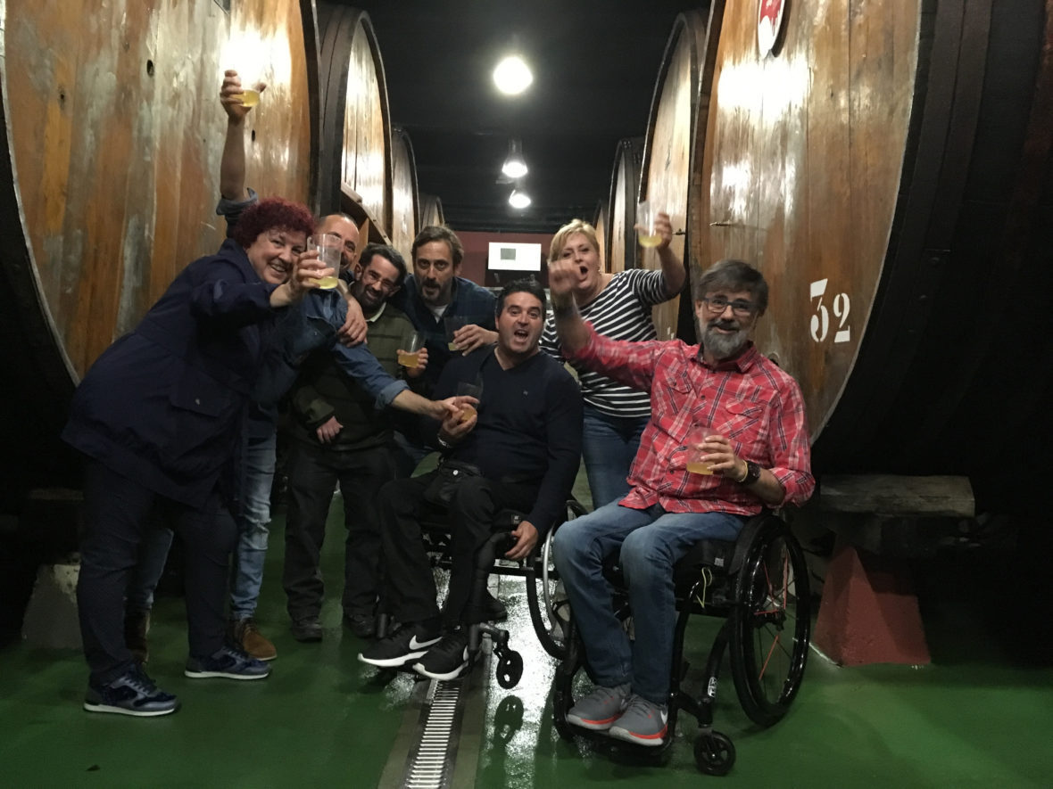 Accessible cider house tour say hello