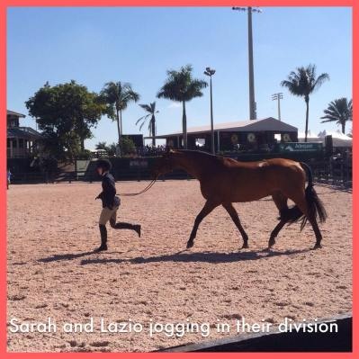 Sarah and Lazio jogging in their division