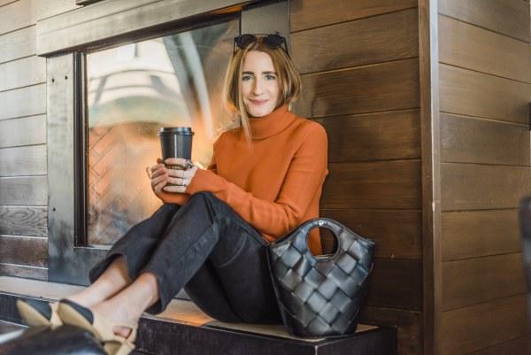 Cinq á Sept Coffee Shop by Basking in Burgundy