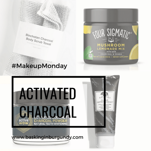 Makeup Monday Activated Charcoal Basking in Burgundy