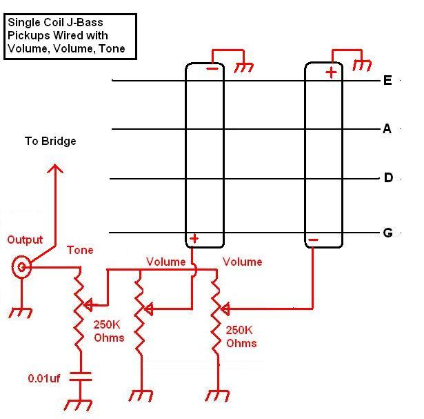 Bass Guitar Volume Wiring Diagram