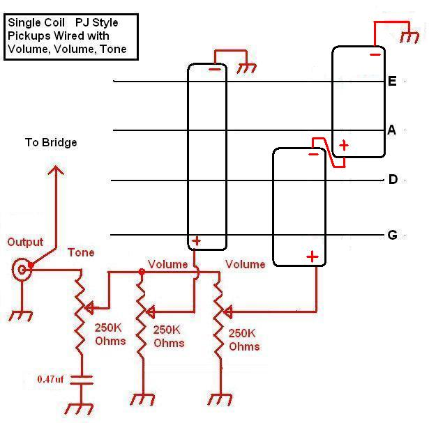 pj bass_wiring_diagram1?resize\\\\\\\=615%2C607 four wire humbucker wiring diagram diagram wiring diagrams on gibson 498t wiring diagram at gsmx.co