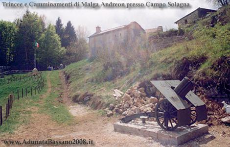 Grappa trincee camminamenti gallerie prima guerra