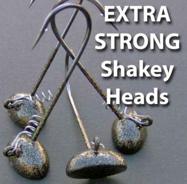 Bassdozer FLAT SHAKEY bass fishing jig heads 45 per pack